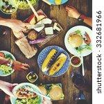 Food Table Healthy Delicious...
