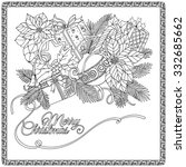 coloring book for adult and... | Shutterstock .eps vector #332685662