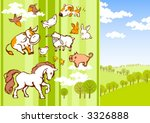 nice cartoon vector animals | Shutterstock .eps vector #3326888