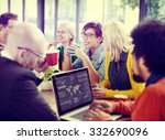 business people meeting seminar ... | Shutterstock . vector #332690096