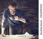 man working home office start...   Shutterstock . vector #332690432