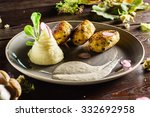 cutlet with mashed potatoes | Shutterstock . vector #332692958