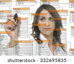 businesswoman works on the... | Shutterstock . vector #332695835