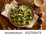 kale and brussel sprout salad... | Shutterstock . vector #332702675