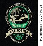 62 best california beaches for... | Shutterstock .eps vector #332744795