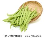 Fresh Green Beans On White...