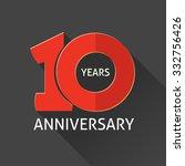 10th anniversary logo template  ... | Shutterstock .eps vector #332756426