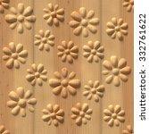 3d pattern  flowers  wood... | Shutterstock . vector #332761622