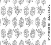 seamless pattern with doodle... | Shutterstock .eps vector #332765192