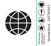 the globe icon. globe symbol.... | Shutterstock .eps vector #332781812