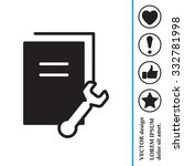 vector document settings icon