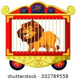 Lion In Carnival Cage...