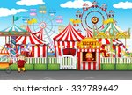 carnival with many rides and... | Shutterstock .eps vector #332789642