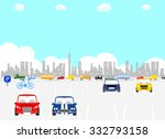 cars on a parking | Shutterstock .eps vector #332793158