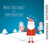 christmas background. santa... | Shutterstock .eps vector #332793392