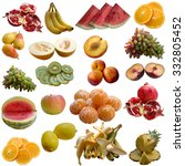 fruits collection. | Shutterstock . vector #332805452