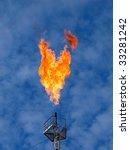burning oil gas flare over the... | Shutterstock . vector #33281242