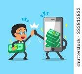 cartoon businessman and... | Shutterstock .eps vector #332812832