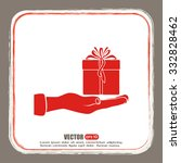 gift box and hand icon | Shutterstock .eps vector #332828462