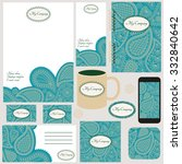 corporate identity templates... | Shutterstock .eps vector #332840642