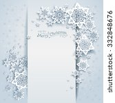 winter holiday card for web ... | Shutterstock .eps vector #332848676