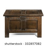 Old Small Coffer Chest Trunk...