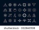 set of geometric shapes. trendy ...   Shutterstock .eps vector #332860508