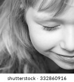 half face of a smiling cute... | Shutterstock . vector #332860916