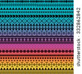 seamless vector tribal texture. ... | Shutterstock .eps vector #332862842