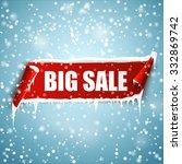 Big Sale Winter Background Wit...