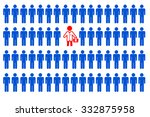 one doctor for many patients | Shutterstock . vector #332875958