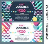 vector gift voucher with... | Shutterstock .eps vector #332885765