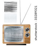 vector wooden vintage tv set...