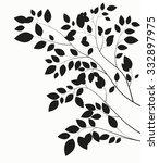 beautiful tree silhouette on a... | Shutterstock . vector #332897975