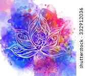 Ornamental Boho Style Lotus...