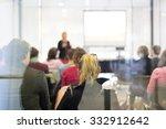 speaker giving a talk at...   Shutterstock . vector #332912642