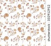 floral vintage pattern sketch....   Shutterstock .eps vector #332912912