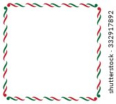 christmas border in green and... | Shutterstock .eps vector #332917892