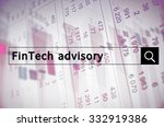 fintech advisory written in... | Shutterstock . vector #332919386