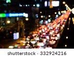 blur light of traffic jam on... | Shutterstock . vector #332924216