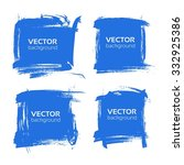 banners from blue textured... | Shutterstock .eps vector #332925386