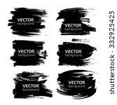 big black textured thick...   Shutterstock .eps vector #332925425