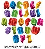 3d Font  Vector Colorful...