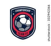 soccer logos  american logo... | Shutterstock .eps vector #332942366