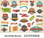 vintage vector set of  labels... | Shutterstock .eps vector #332944868