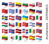 world flags collection. flags ... | Shutterstock .eps vector #332946812