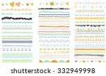 vector brush lines. hand drawn... | Shutterstock .eps vector #332949998