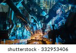 team robot welding movement... | Shutterstock . vector #332953406