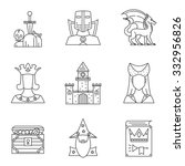 Set Of 9 High Detailed Icons O...