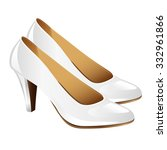 classic woman white shoes on... | Shutterstock .eps vector #332961866